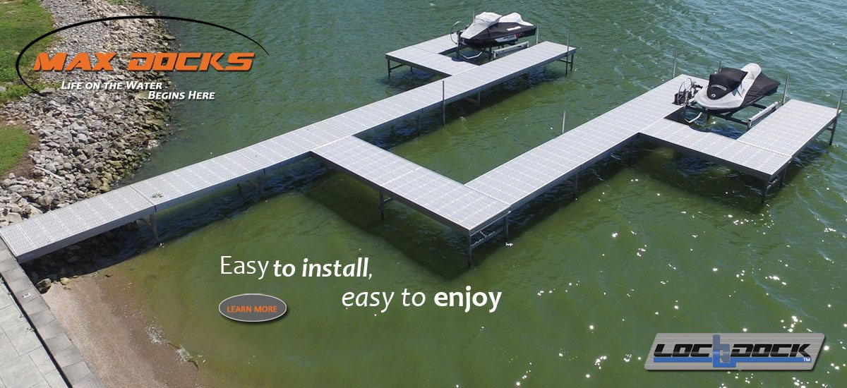 Floating LochDock is perfect for marina, campground, and residential use.